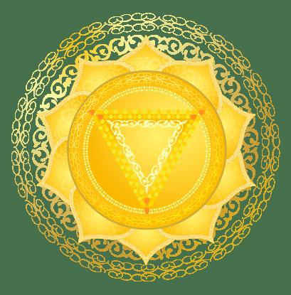 نماد چاکرای سوم یا چاکرای خورشیدی